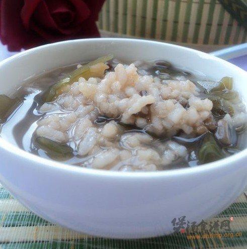 绿豆海带粥的做法