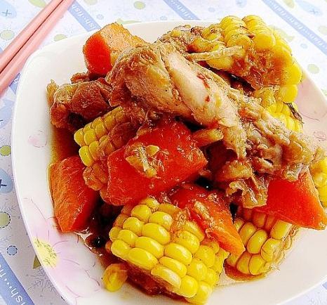 时蔬炖鸡的做法