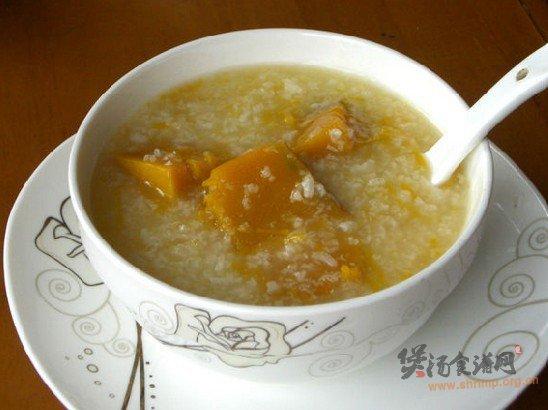 南瓜糯米粥的做法