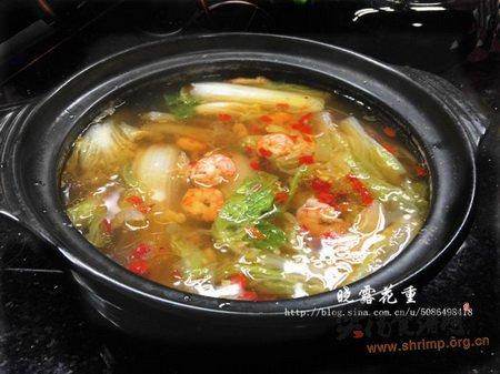 砂锅虾仁煮白菜的做法