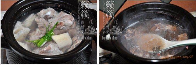 莲藕煨汤骨的做法