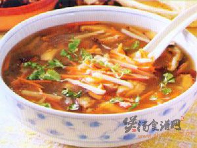 芽菜肉片汤的做法
