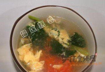 西红柿菠菜蛋花汤的做法