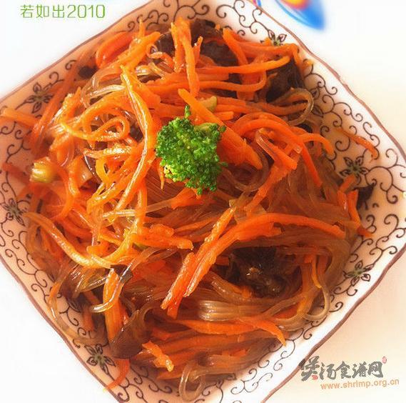 胡萝卜炖粉条的做法
