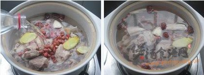 莲藕墨鱼排骨汤的做法