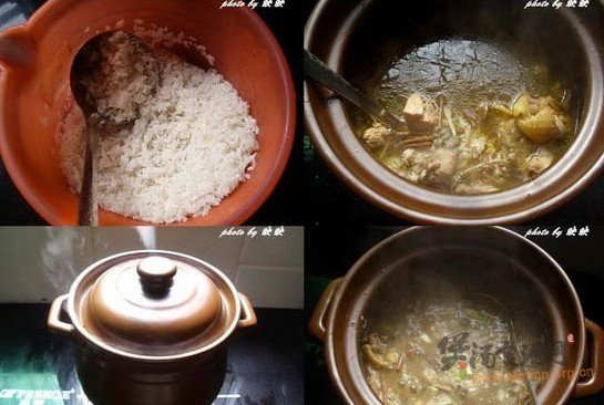 茶树菇鸡粥的做法