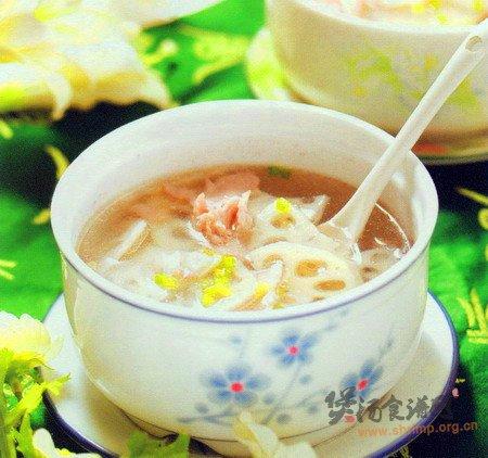 (图)藕片瘦肉汤的做法
