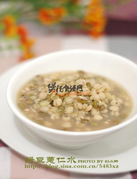 绿豆薏仁水的做法