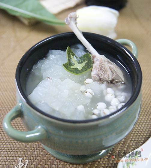 冬瓜薏米煲水鸭的做法