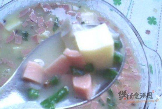 咸蛋黄豆腐汤的做法