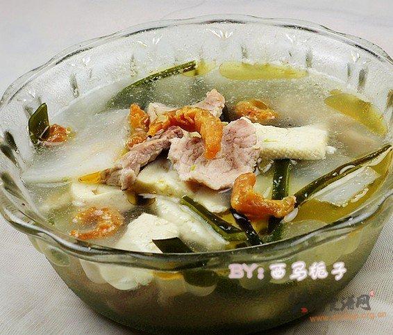 海米瘦肉什锦汤的做法