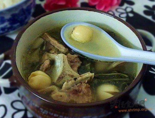 莲子菜干扇骨汤的做法