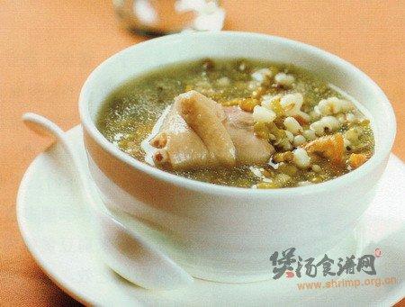 绿豆薏米鸭汤的做法
