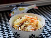 米饭闷菜的做法