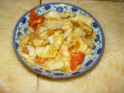 包菜炒西红柿的做法