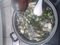 海带豆腐蛋花汤的做法